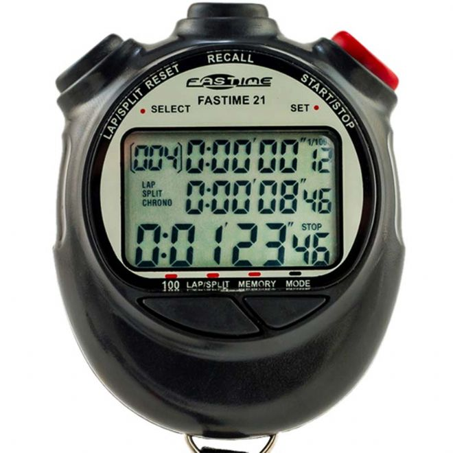 Saturn Stopwatches - 100 Lap Memory - Triple Display - Fastime 21 Stopwatch